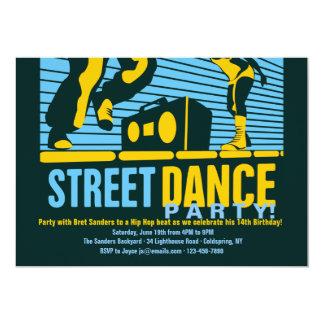 """Invitaciones del baile de la calle invitación 5"""" x 7"""""""