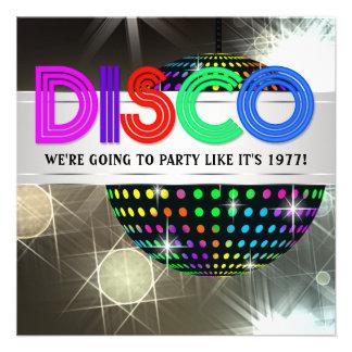 Invitaciones del baile del disco comunicado