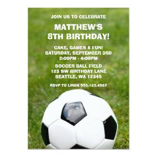 """Invitaciones del balón de fútbol y de la fiesta de invitación 5"""" x 7"""""""