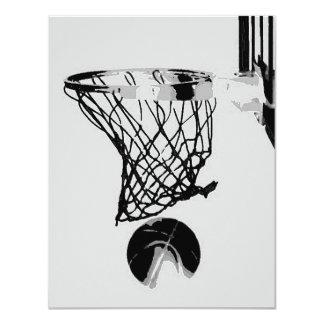 Invitaciones del baloncesto invitación personalizada