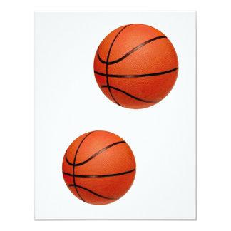 Invitaciones del baloncesto anuncio personalizado
