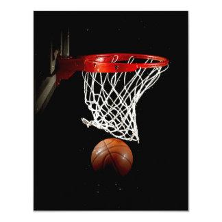 Invitaciones del baloncesto invitaciones personales