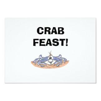 Invitaciones del banquete del cangrejo comunicados