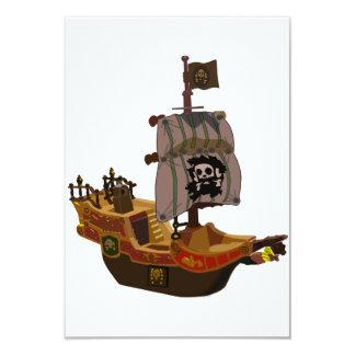 """Invitaciones del barco pirata invitación 3.5"""" x 5"""""""