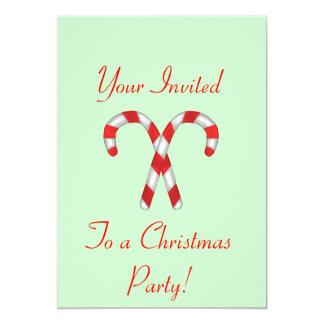 """Invitaciones del bastón de caramelo invitación 5"""" x 7"""""""