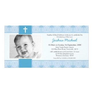 INVITACIONES DEL BAUTISMO DE LA FOTO:: bonito 1L Tarjetas Fotograficas Personalizadas