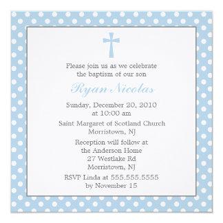 Invitaciones del bautismo de los lunares anuncios personalizados