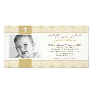 INVITACIONES DEL BAUTIZO DE LA FOTO:: bonito 3L Tarjetas Fotograficas Personalizadas