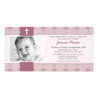 INVITACIONES DEL BAUTIZO DE LA FOTO:: bonito 9L Tarjetas Fotograficas Personalizadas