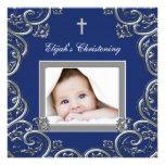 Invitaciones del bautizo de la foto de los azules  anuncio personalizado