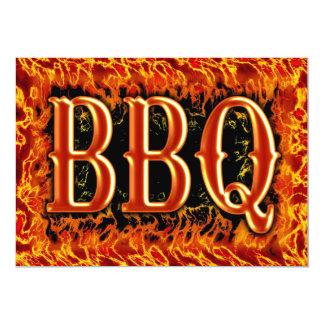 Invitaciones del Bbq Invitación 12,7 X 17,8 Cm