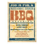 Invitaciones del Bbq de la cena del ensayo Anuncios Personalizados