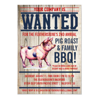 Invitaciones del Bbq de la familia de la carne Invitacion Personal