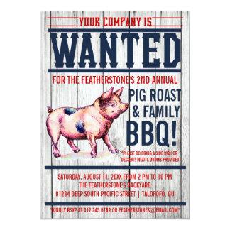 Invitaciones del Bbq de la familia de la carne Anuncios Personalizados