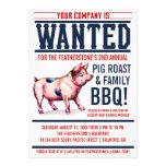 Invitaciones del Bbq de la familia de la carne asa Invitación