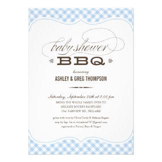 Invitaciones del Bbq de la fiesta de bienvenida al