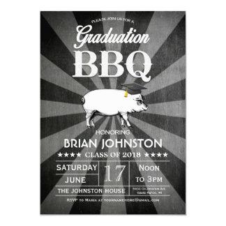 """Invitaciones del Bbq de la graduación (pizarra) Invitación 5"""" X 7"""""""