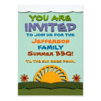 Invitaciones del Bbq/de la reunión del verano del Invitación 12,7 X 17,8 Cm
