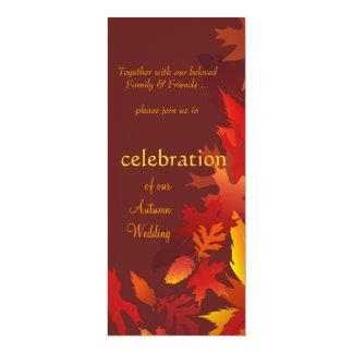 Invitaciones del boda - bodas festivos del otoño invitación 10,1 x 23,5 cm