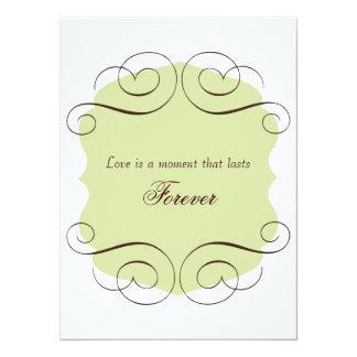 """Invitaciones del boda con cita del amor invitación 5.5"""" x 7.5"""""""