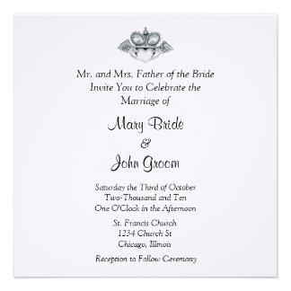 Invitaciones del boda de Claddagh Comunicado