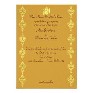 Invitaciones del boda de Ganesha Invitación