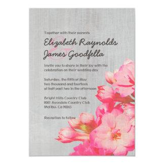 Invitaciones del boda de Kalanchoe del vintage Comunicado Personal
