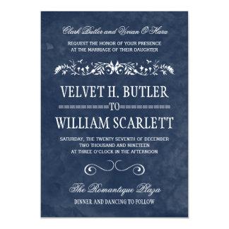 Invitaciones del boda de la acuarela comunicado