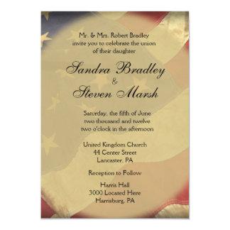 Invitaciones del boda de la bandera americana invitación 12,7 x 17,8 cm