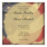 Invitaciones del boda de la bandera americana invitación 13,3 cm x 13,3cm