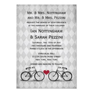 Invitaciones del boda de la bicicleta del vintage anuncio
