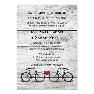 """Invitaciones del boda de la bicicleta del vintage invitación 5"""" x 7"""""""