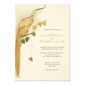 Invitaciones del boda de la caída anuncio