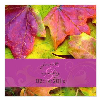 Invitaciones del boda de la caída del arco iris invitación