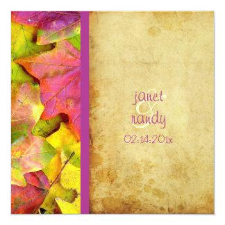 Invitaciones del boda de la caída del arco iris comunicados