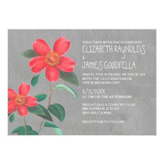 Invitaciones del boda de la camelia anuncio