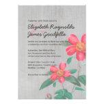 Invitaciones del boda de la camelia del vintage invitaciones personalizada