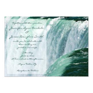 Invitaciones del boda de la cascada de Niagara Invitación 12,7 X 17,8 Cm