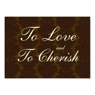 Invitaciones del boda de la cita del damasco de comunicados personalizados