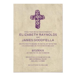 Invitaciones del boda de la cruz del hierro del invitación 12,7 x 17,8 cm