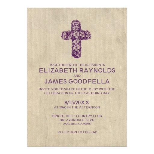 Invitaciones del boda de la cruz del hierro del pa comunicados personalizados