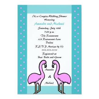 """Invitaciones del boda de la ducha de los pares de invitación 5"""" x 7"""""""