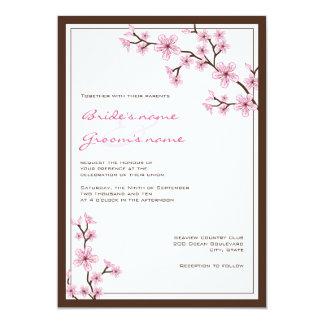 """Invitaciones del boda de la flor de cerezo invitación 5"""" x 7"""""""