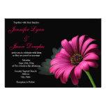 Invitaciones del boda de la flor de la margarita d invitacion personal