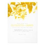 Invitaciones del boda de la flor del oro