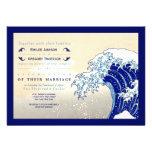 Invitaciones del boda de la impresión de Woodblock