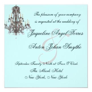 """Invitaciones del boda de la lámpara de Versalles Invitación 5.25"""" X 5.25"""""""