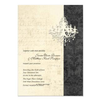 """Invitaciones del boda de la lámpara invitación 5"""" x 7"""""""