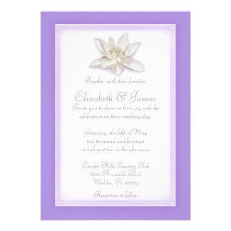 Invitaciones del boda de la lavanda