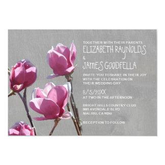 Invitaciones del boda de la magnolia invitacion personalizada